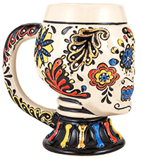 Mini Multicolor Skull Mug With Handle