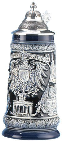 COBALT GERMAN EAGLE STEIN