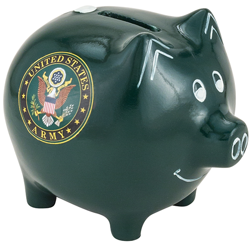 M Cornell Importers Inc Army Ceramic Piggy Bank