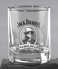 *JACK DANIEL'S CAMEO SHOT GLASS