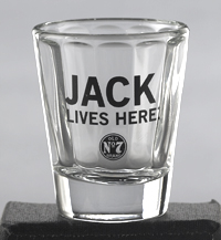 *JACK DANIEL'S JACK LIVES HERE SHOT GLASS