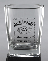 *JACK DANIEL'S LABEL LOGO DOF GLASS