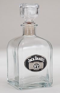 *JACK DANIEL'S DECANTER W/ MEDALLION