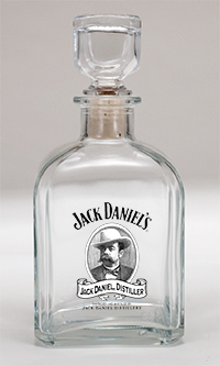 *JACK DANIEL'S CAMEO GLASS DECANTER