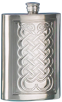 CELTIC KNOTWORK PEWTER FLASK