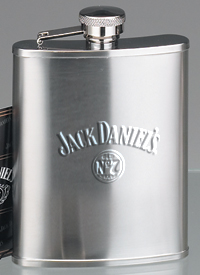 *JACK DANIEL'S 6 OZ MATTE FINISH FLASK
