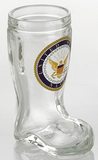 NAVY MINI BOOT GLASS SHOT