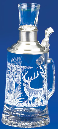GLASS FATHER & SON DEER STEIN