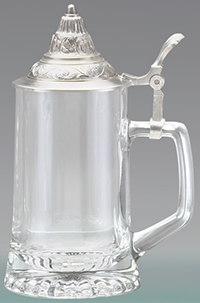 GLASS STEIN W/ REMOVABLE LID