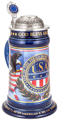 USA Decal Stein
