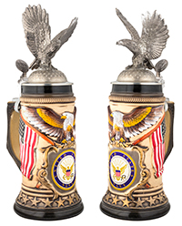 Eagle with Navy Stein