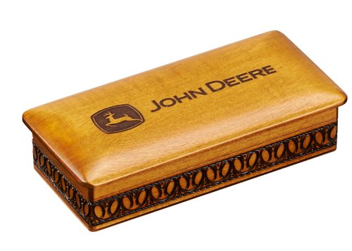 JOHN DEERE ENGRAVED LOGO BOX