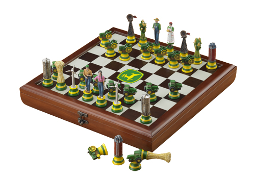 Includes Board and Pieces M Cornell Jack Daniels Wooden Chess Set
