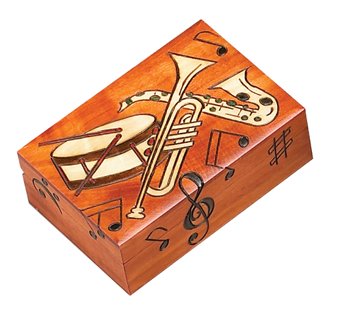 MULTICOLPR MUSIC INSTRUMENT BOX