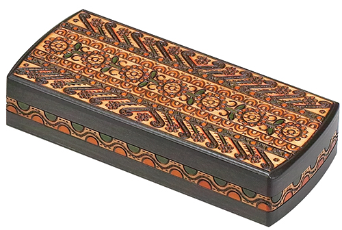 INTRICATELY BURNED BOX