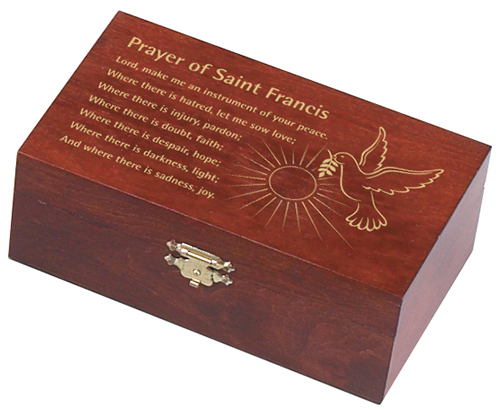 Prayer of St. Francis Wooden Box