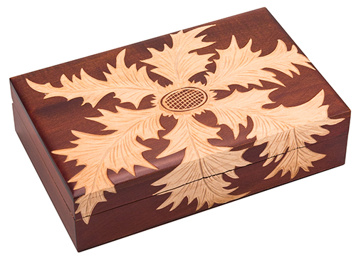 CARVED THISTLE BOX