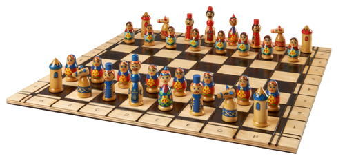 UKRAINIAN FOLKLORE CHESS PIECES