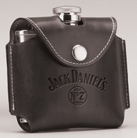 *JACK DANIEL'S BLACK COVER FLASK