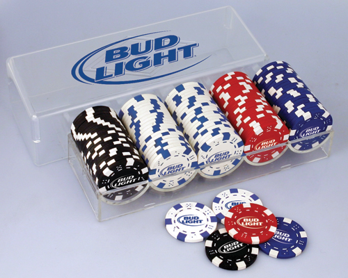 ANHEUSER BUSCH BUD LIGHT POKER SET