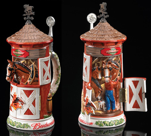 ANHEUSER BUSCH CLYDESDALE STABLE STEIN