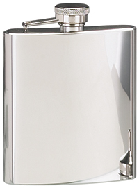 STAINLESS STEEL HIP FLASK W/ POLISHED FINISH