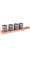 Set of 4 Tasting Cups With Paddle