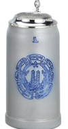Bavaria Munchener Salt Glaze 1.0 L with Lid