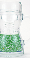 Glass Dirndl Decorated