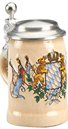 Mini Bavarian Flags Mug With Lid