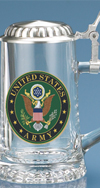 Army Glass Stein