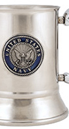 Navy Stainless Steel Tankard