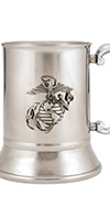 USMC Stainless Steel Tankard w/EGA Badge