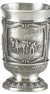 BEERWAGON PEWTER SHOT GLASS