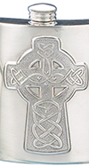 PEWTER CELTIC ISLES FLASK