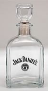 *JACK DANIEL'S LOGO GLASS DECANTER