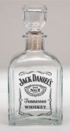 *JACK DANIEL'S LABEL LOGO GLASS DECANTER