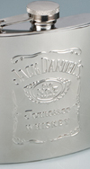 *JACK DANIEL'S SS WHISKEY FLASK