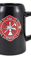 Black 0.5L Mug w/ Maltese Cross