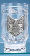 LAW ENFORCEMENT GLASS FACET MUG