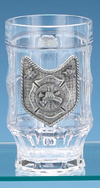 FIRE DEPARTMENT GLASS FACET MUG
