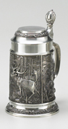 PEWTER DEER STEIN