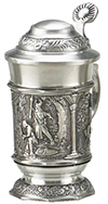 MINIATURE PEWTER STEIN