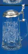 James Meger Glass Timber Wolf Stein