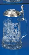 James Meger Glass White Tail Deer Stein