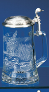 James Meger Glass Mallard Stein