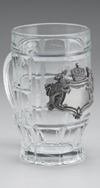 BAVARIAN CREST GLASS MUG