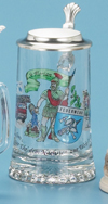 GLASS FIREFIGHTER STEIN