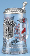 GLASS POLAND STEIN