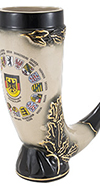 German Crest Drinking Horn
